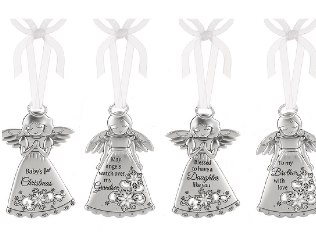 silver angel ornament gifts