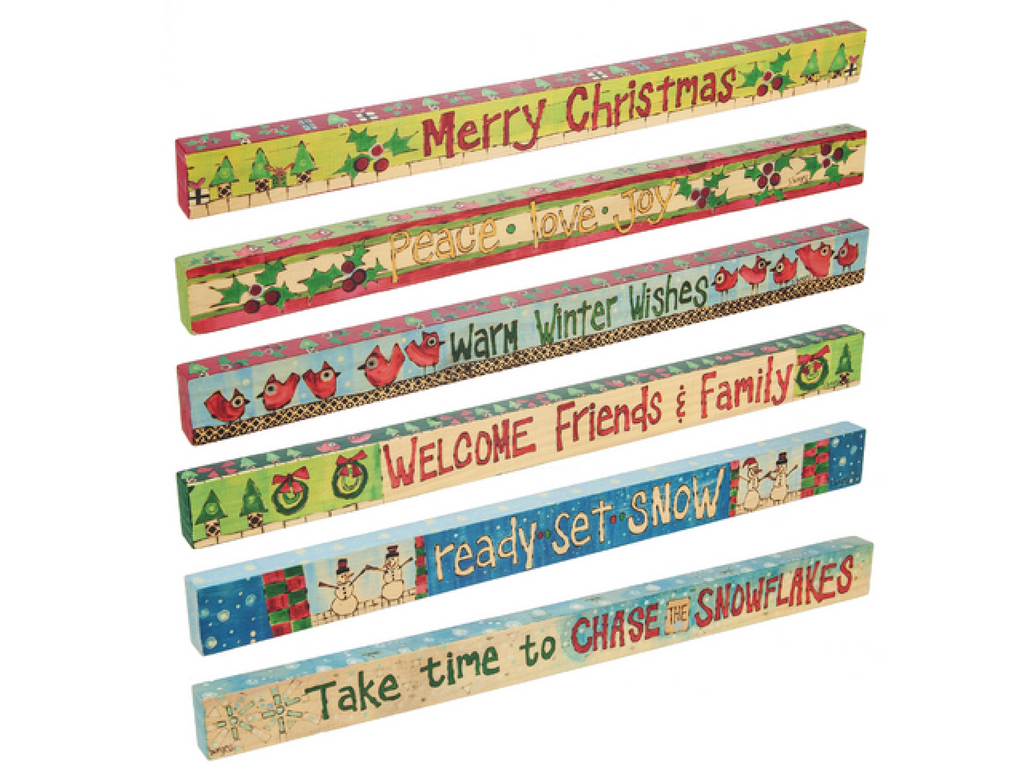 colorful christmas signs