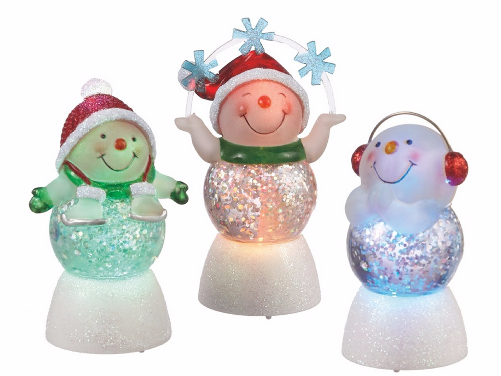 light up snowmen