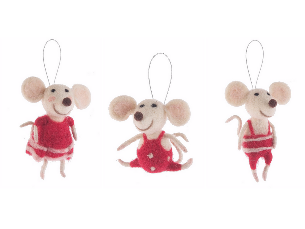 cute mice ornaments