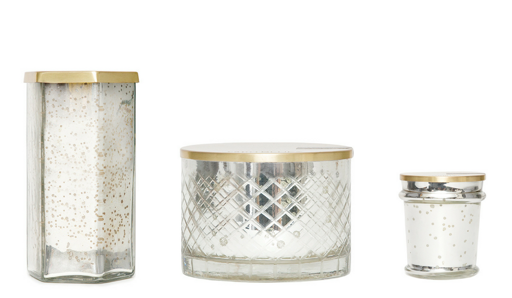mercury collection modern candles