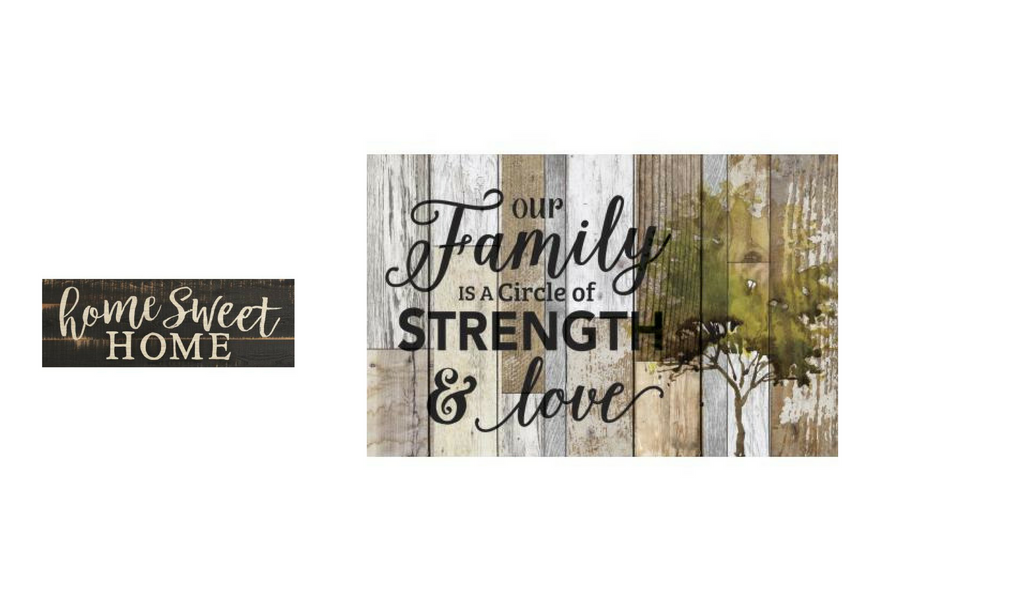 Family Sign and Home Sweet Home Sign