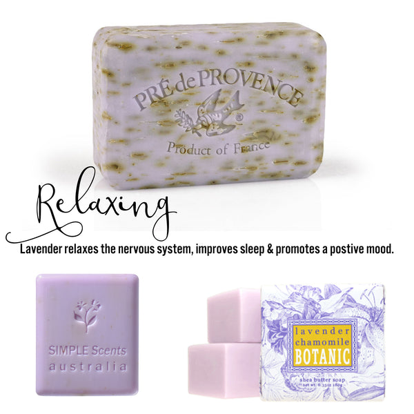 Lavender relaxes the nervous system, improves sleep & promotes a postive mood.