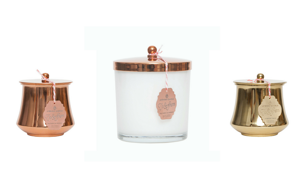 Copper & Gold Candles