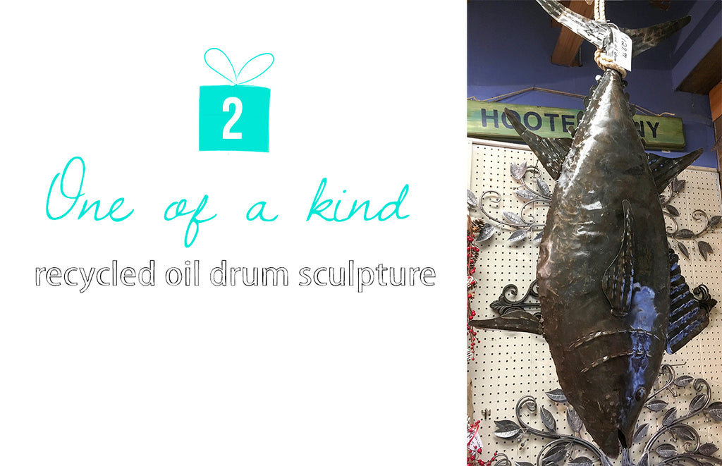 2 One of a Kind Oil Drum Fish