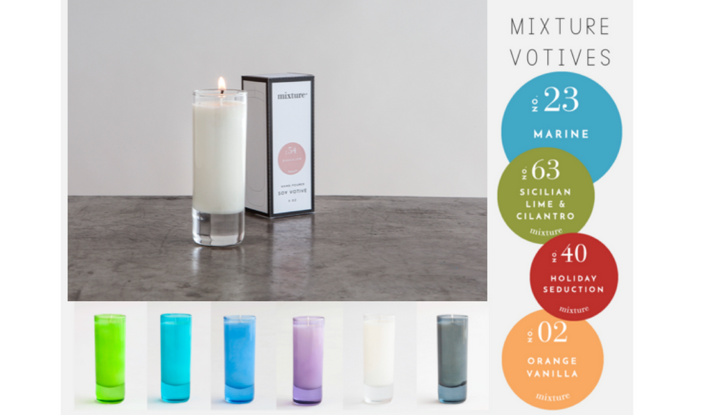 mixture votive candles