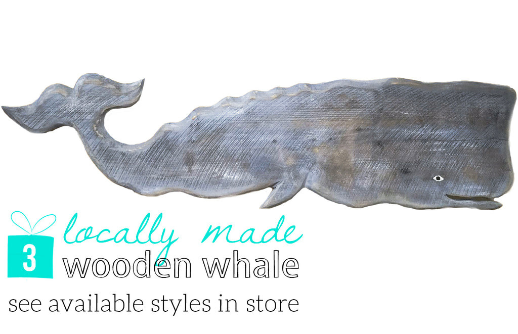 3 Locally Made Wooden Whale