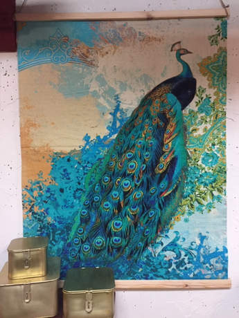 Peacock Fabric Tapestry