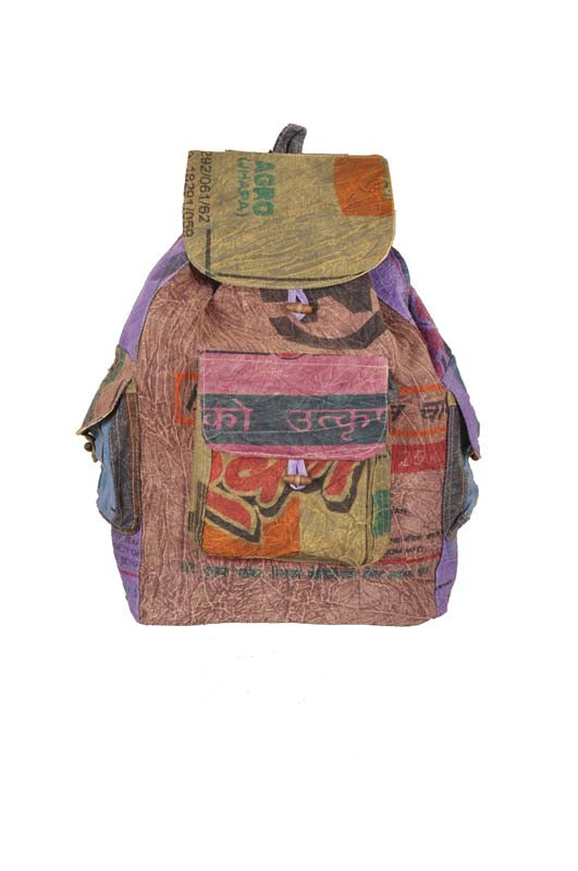 Recycled Rice Bag Backpacks
