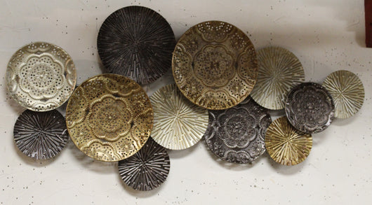 Metal Mandala Disk Wall Decor
