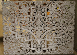 White Washed Carved Wall Hanging