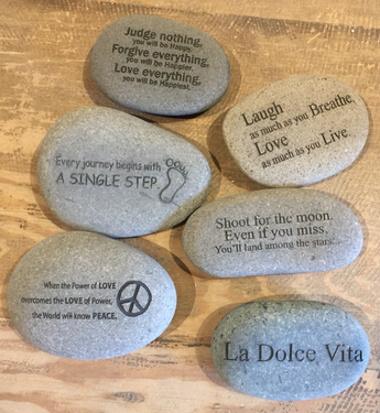 Laser Cut Inspirational Rocks