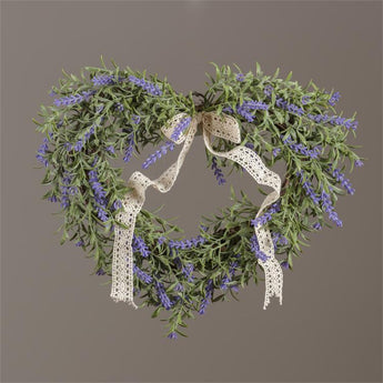 Wreath - Lavender, White Daisies With Assorted Foliage