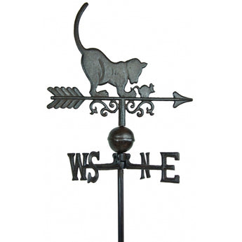 Cat Weathervane Stake Cast Iron