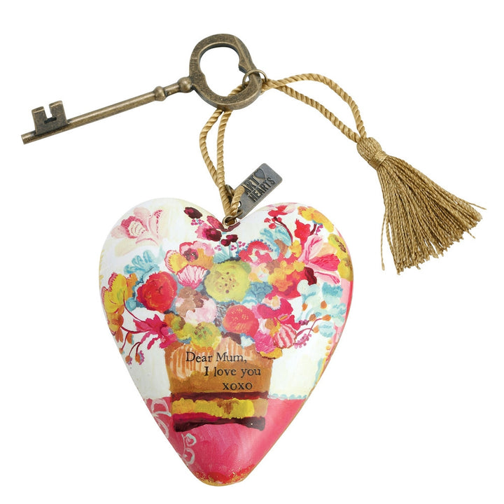 Art Heart Ornaments