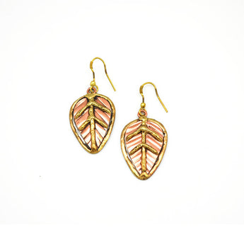 Stainless Steel & Copper Earrings - Handmade