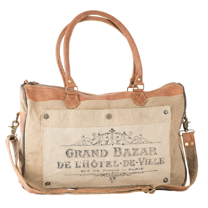 GRAND BAZAR SHOULDER BAG WITH STRAP | Recycled Canvas Bag