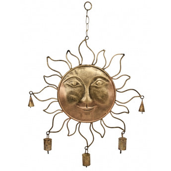 Gold Sun With Bells - Chimes