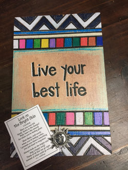 Live Your Best Life Wood Sign Block