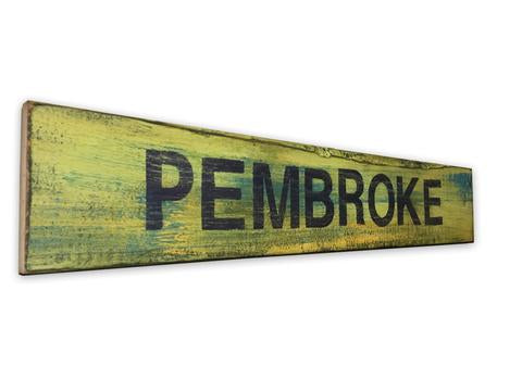 Rustic Pembroke Sign