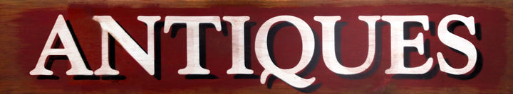 Large Rustic Antiques Sign