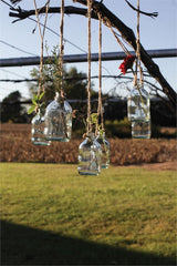 "4-1/2""H Glass Hanging Bottle"