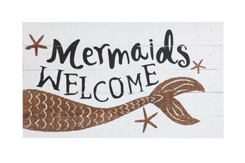 Welcome Mermaids Sign