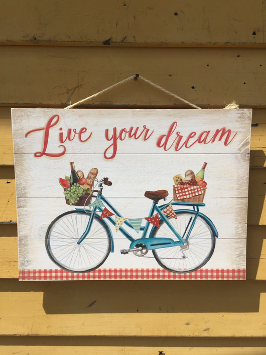 Live Your Dream Wood Sign