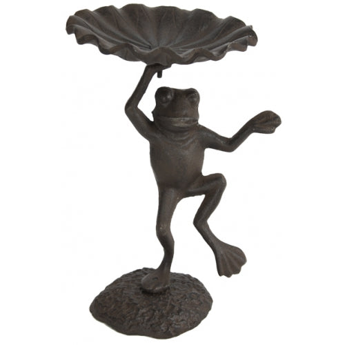 Whimsical Bird Feeder - Cast Iron Frog