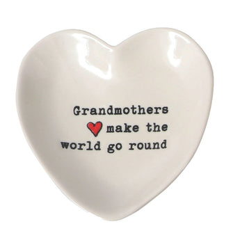 Grandma Heart Trinket Dish: Grandmothers Make the World Go Round
