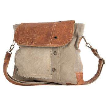 Plain Leather Shoulder Bag | Recycled Canvas Bag