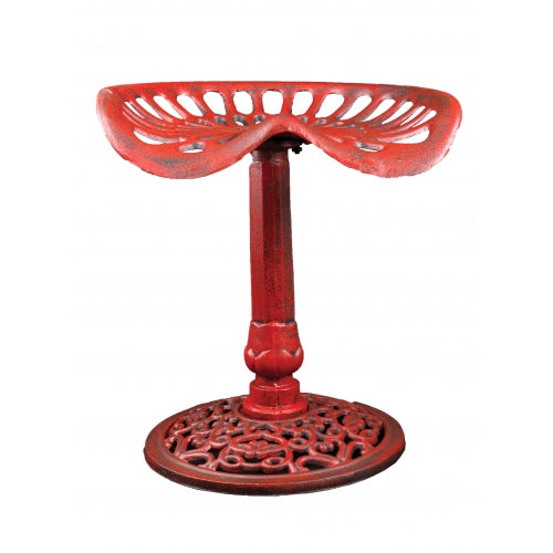 Cast Iron Stool, Red Tractor Seat