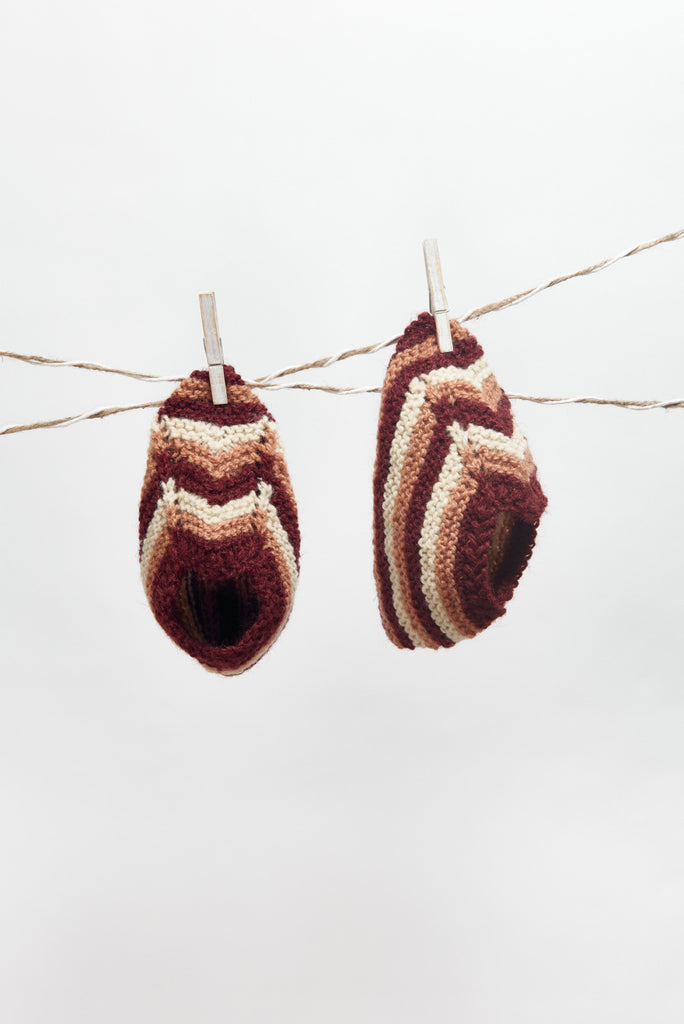 Wool Slippers, Handknit Wool Socks, Warm, Soft, Knitted Socks, Men's and Women's Slippers: Nico