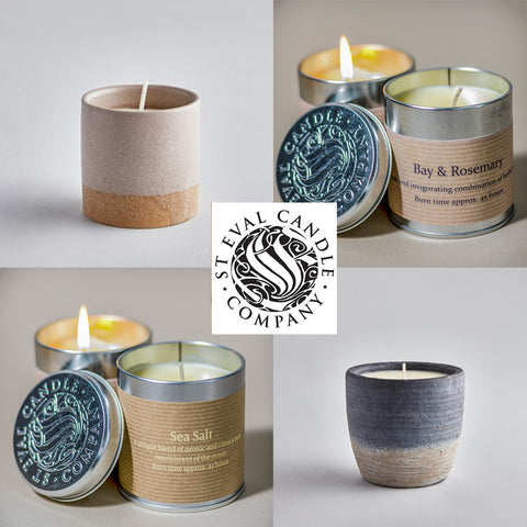 St Eval Candles - Tin candles, pillar candles, potted candles