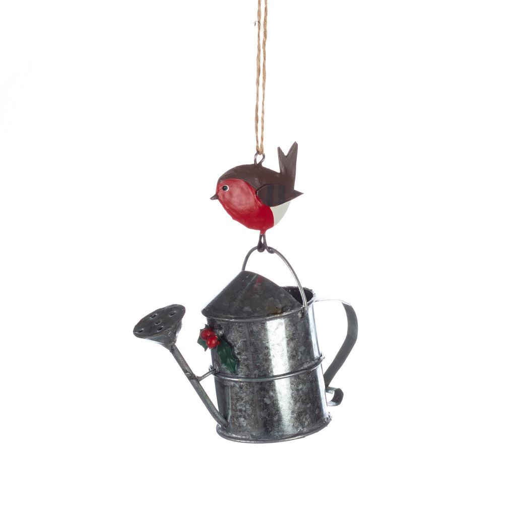 Watering can with Robin
