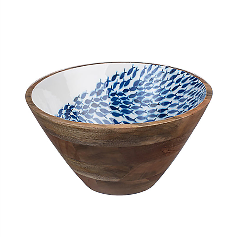 Fish Shoal wooden bowl