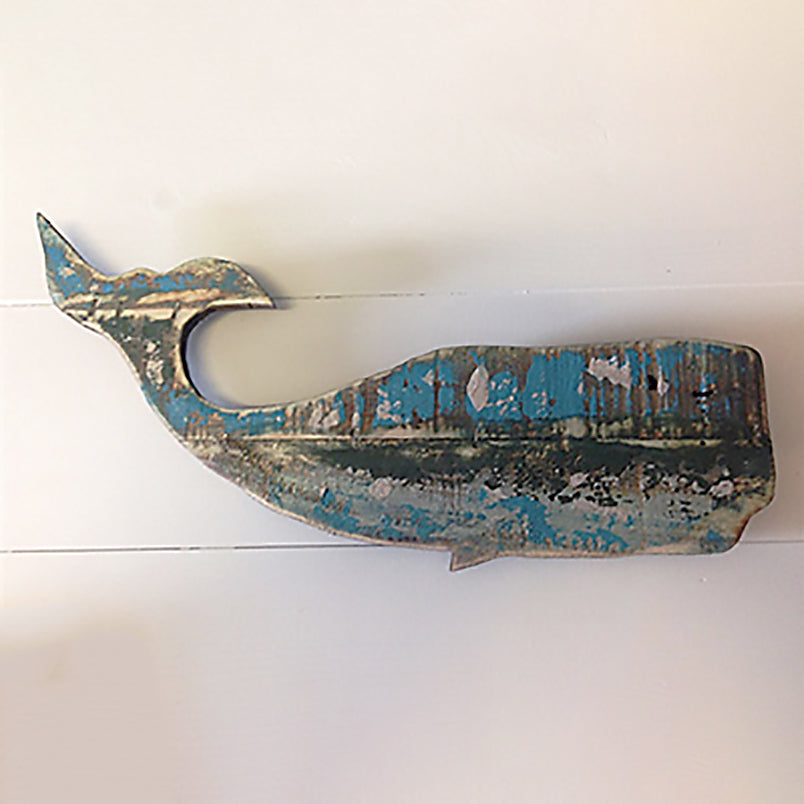 Wooden Whale Wall Art