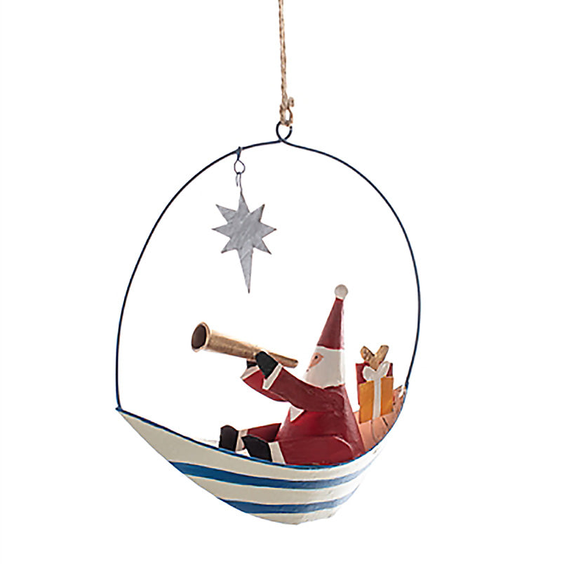 Do You see What I see Santa in a boat