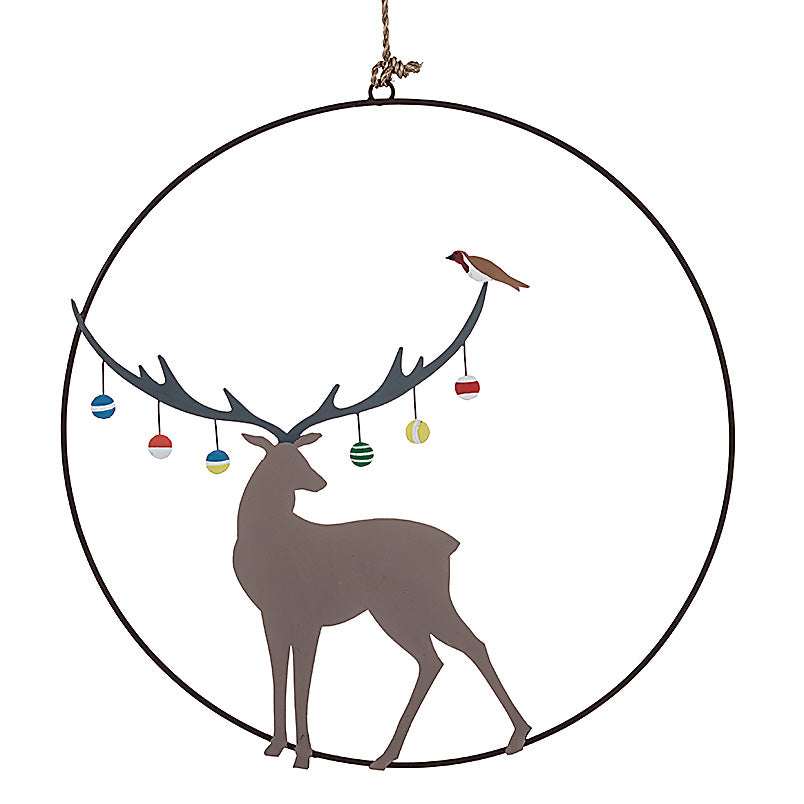 Bauble Stag Wreath