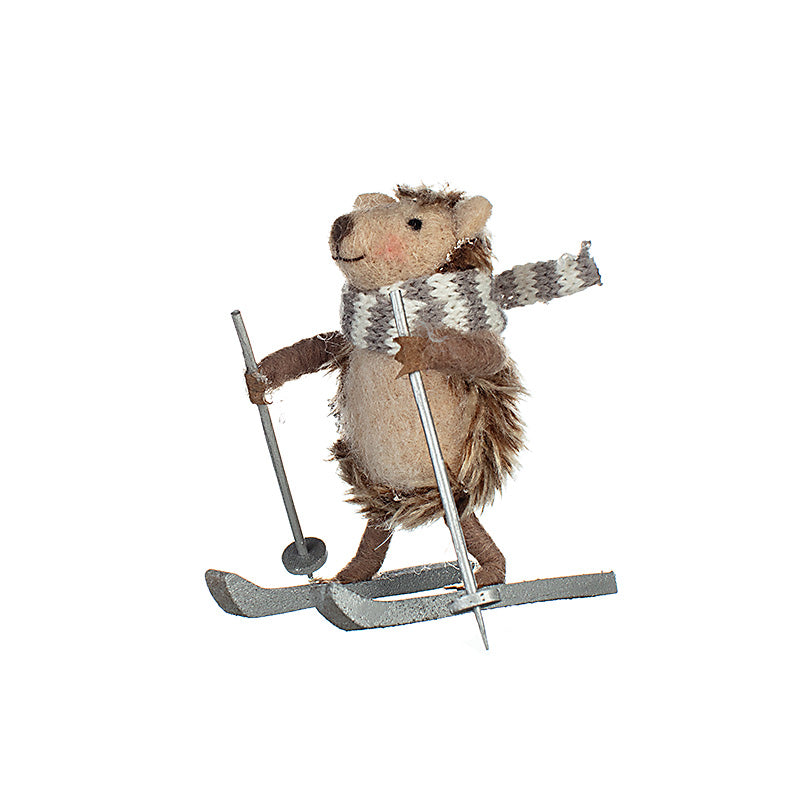 Hilda the Hedgehog on Skis