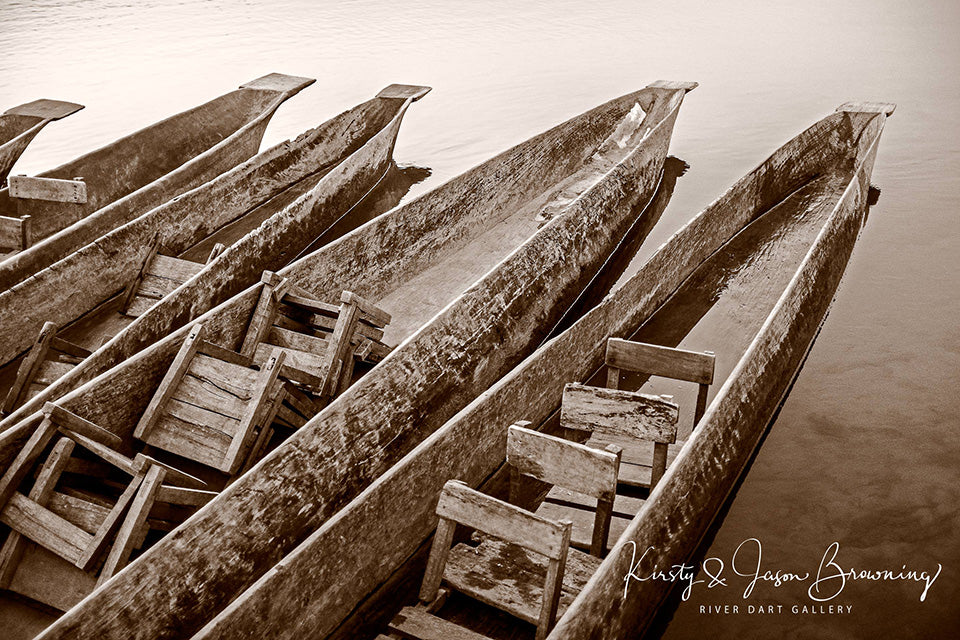 Dugout Canoe Fine Art Photography by Kirsty & Jason Browning at River Dart Gallery