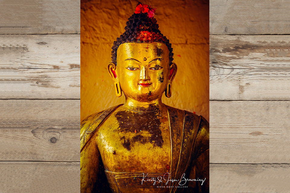 Golden Buddha Fine Art Photography by Kirsty & Jason Browning at River Dart Gallery