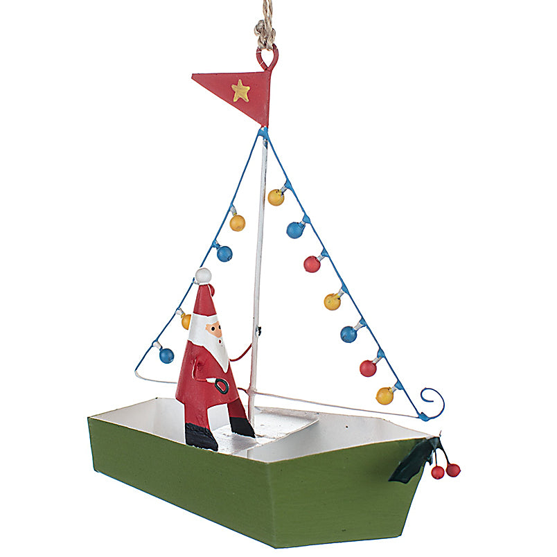 Santa Light Up Boat