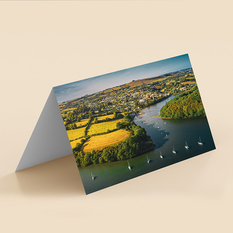 Fine art greeting card of stoke Gabriel by Kirsty & Jason Browning River Dart Gallery