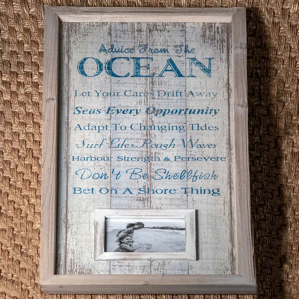Ocean Photo Frame & Sign