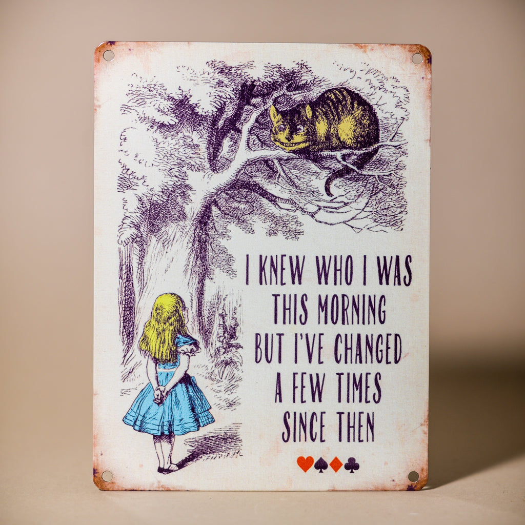 Alice in Wonderland Retro Tin Sign