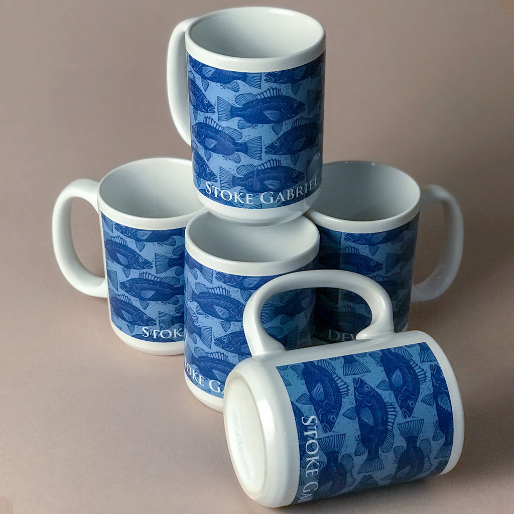 Large Mug - Blue Salmon