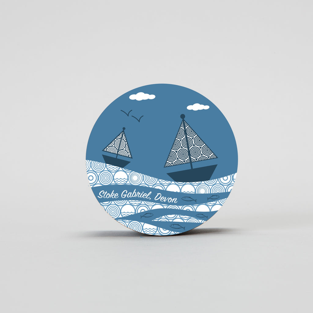 Pocket Mirror - Sailboats