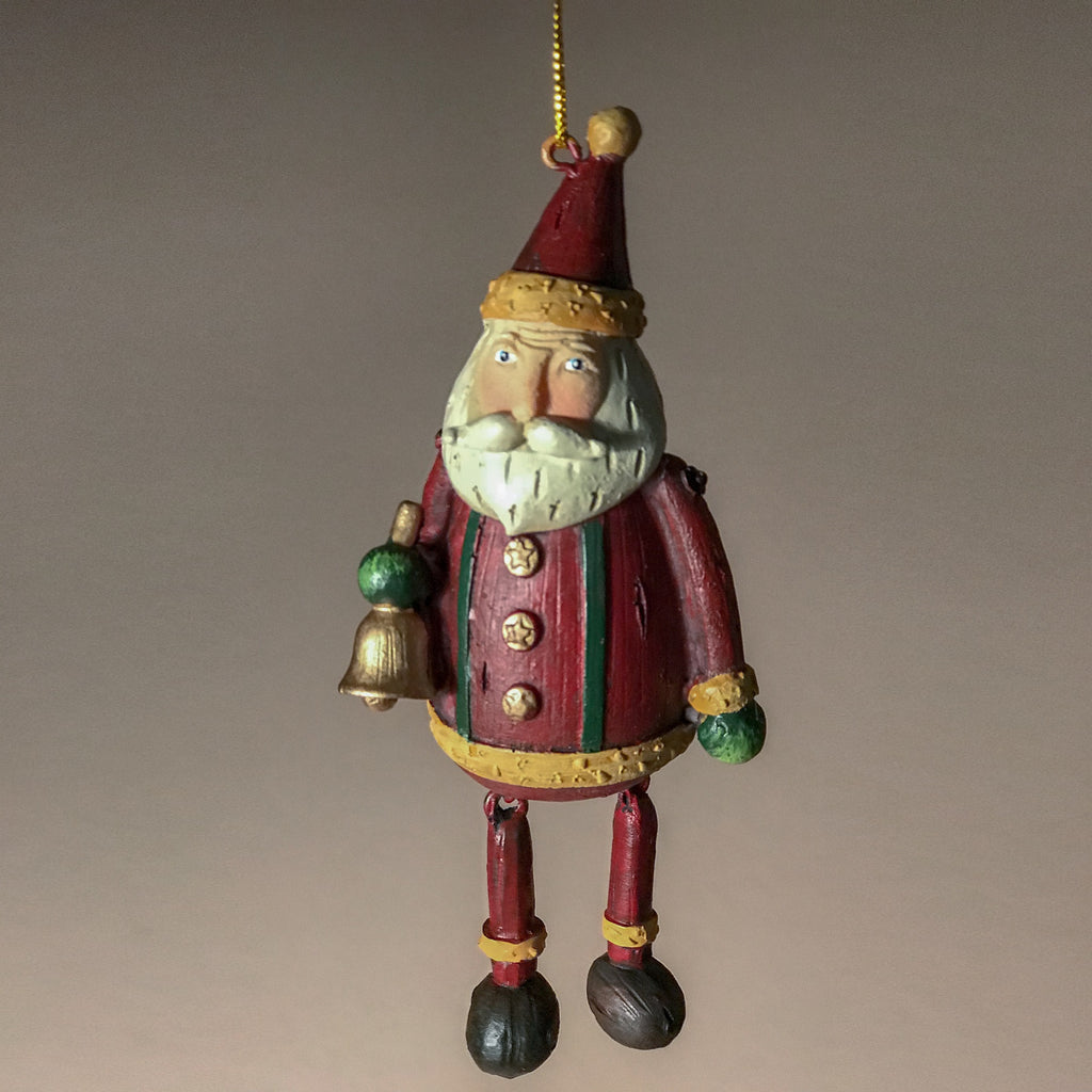 Wooden Hanging Santa Ornament