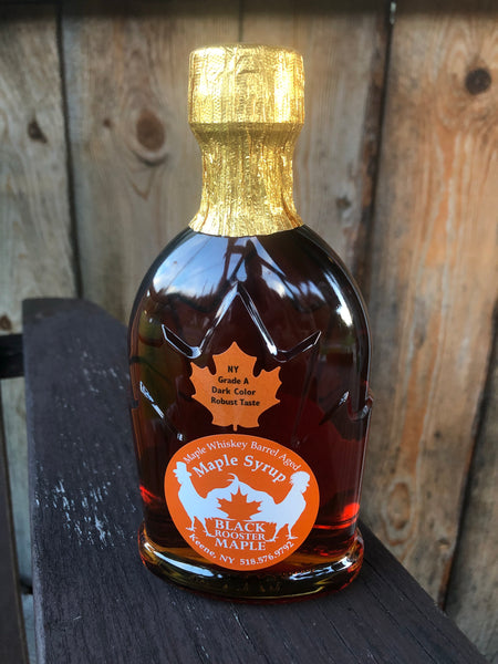 250 mL (8.5 ounces) Adirondack Maple Whiskey Barrel Aged Maple Syrup